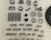 Planner Stamps, Food Planner Stamps, Shopping Planner Stamps, Lifestyle Planner Stamps, Everyday Life Stamps, Emoji Planner Stamps.