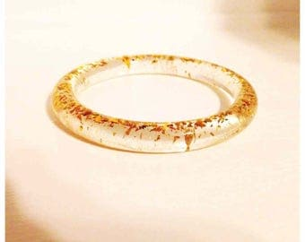 gold flake bangle small adult size with free shipping