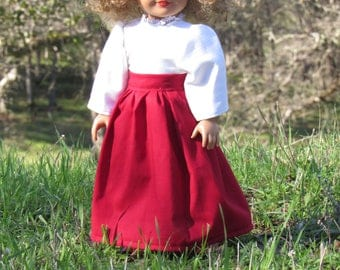 Historical Shirtwaist and Skirt for 18 inch Dolls