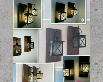 Lanterns, home decor, hanging scones, hanging lanterns, rustic decor, lantern scones, rustic wall scones, gifts, wall scones, office decor