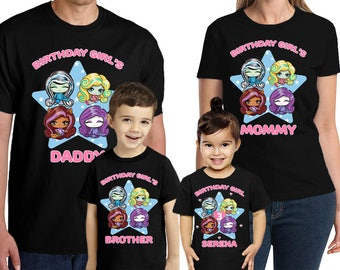Monster High Birthday Shirt Custom Name and Age Monster High Birthday shirt