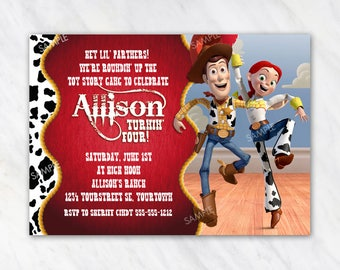Woody and Jessie Invitation for Birthday Party - Toy Story Invitation - Printable Digital File