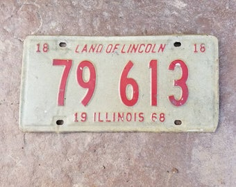 Old Illinois Licence Plate - 1968