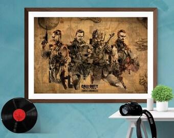 Call of Duty Black Ops 3 Alternative Artwork Video Game Print Poster Matt / Silk / Canvas A4/A3/A2