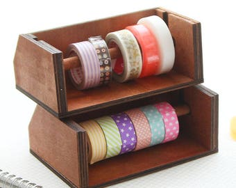 Wooden Washi Tape Holder, Washi Tape Storage, Washi Tape Box