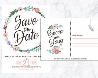DIGITAL Save the Date Postcard