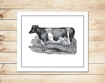 Cow Print, Farmhouse Print, Farmhouse Art, Farmhouse Printable, Cow Farm Art, Cow Printable