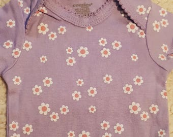 Purple with Flowers Puppy Shirt (Size 1P)
