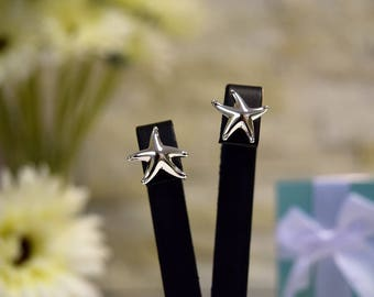 Tiffany & Co Sterling Silver Starfish Earrings (Elsa Peretti design)
