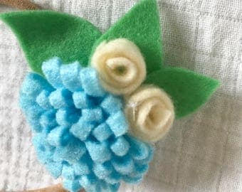 Flower headband for baby -  toddler headband - baby flower headband - felt flower headband