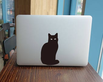 The cat sticker for macbook pro skin macbook sticker macbook air sticker macbook front decal