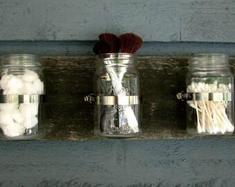 Mason jar organizer- color espresso
