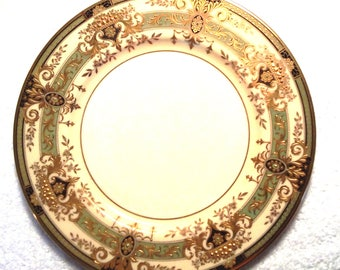 Set of 12 Vintage Lenox Gold Encrusted Service Plates (Chargers) Pattern: E-348-G