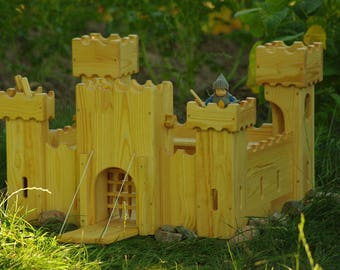 Waldorf Wooden Dollhouse, Toy House, Kids Play Castle, Handmade Fortress, Knights Fort, Toy Stronghold, Wooden Citadel, King Tower, Eco Toy
