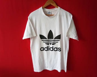 vintage adidas big logo medium mens t shirt
