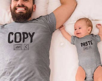 Copy - Paste - Daddy and Me Matching T-Shirt/Onesie