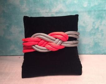 Pink/Gray Sailors Knot Para-cord Bracelet