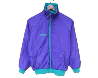 Vintage 90s columbia outdoor jacket 2 in 1 size S columbia jacket neon jacket ski jacket columbia puffer goose down