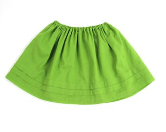 Summer Girl skirt-smart green cotton