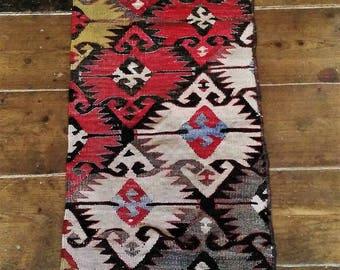 Four Kilim lengths, created from a gorgeous Vintage Kilim rug circa 1920's