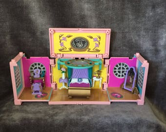Vintage Polly Pocket deluxe dream builders mansion bedroom