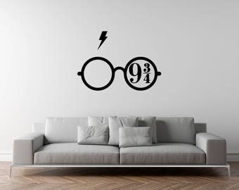Harry potter wall decal | Etsy UK