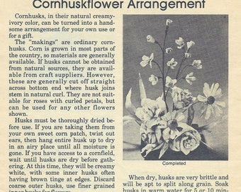 CORNHUSK FLOWERS from Workbasket Magazine 1978