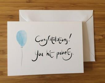 Birthday card, greeting card, funny card