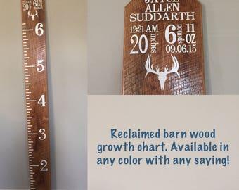 Custom Wood Growth Chart