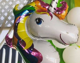 Unicorn Head Mylar Balloon  - Large