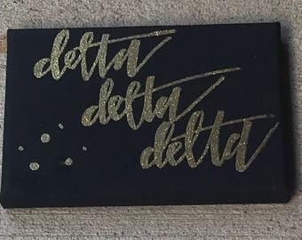 Tri Delta Black Canvas