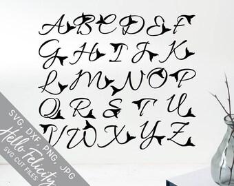 Mermaid Svg, Mermaid Tail Svg, Mermaid Monogram Svg, Mermaid Font, Dxf, Jpg, Svg files for Cricut, Svg files for Silhouette, Vector Clip Art