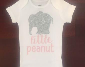 Little Peanut Elephant Onesie