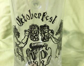 Glass Oktoberfest mug