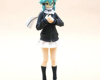 MY-S-WH: FIGLot 1/12 Scale fabric school uniform skirt for Figma female figure - White