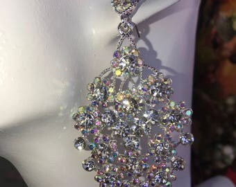 AB Austrian Crystal Cluster Earrings