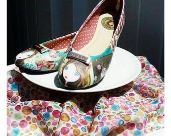 Kawaii Inspired Nicole Lee Cupcake Girl Ballerina Flats Size 7