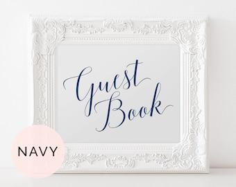 Navy Guest Book Wedding, Guest Book Sign, Printable Guest Book, Printable Guestbook Sign, Wedding Guest Book Sign, Wedding Guestbook Sign