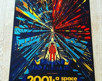 2001 a space odyssey metal poster