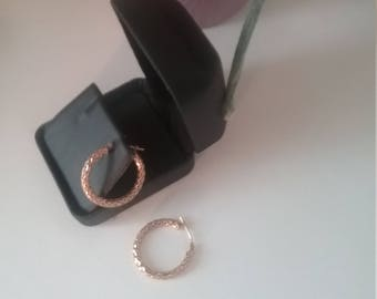 14 K gold hoop earrings