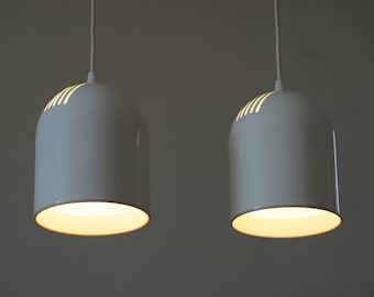 1980's 2 RAAK planter pendant lamps | 2 suspensions