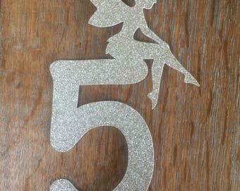 Fairy number cake topper