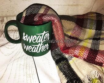 Sweater Weather Coffee Mug   Winter Coffee Mug   Christmas Mug   Coffee Mug   Holiday Gift   Holiday Mug   Christmas Gift   Christmas Coffee