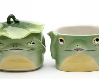 Fairy Frog Sugar and Creamer Set (61532)