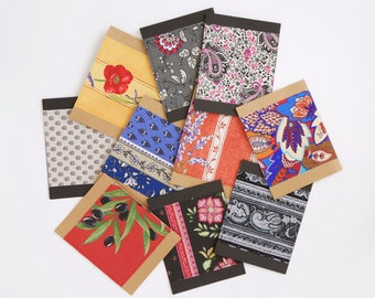 notecards with fabrics from Provence, France