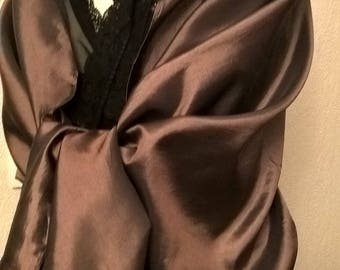 Brown wedding shawl