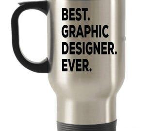Graphic Designer Travel mug , Graphic Designer Gifts, Best Florist Ever, Stainless Steel Mug, Insulated Tumblers, Christmas Present