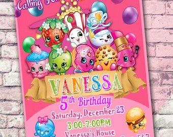 Shopkins Invitation, Shopkins Birthday, Shopkins Birthday Party, Shopkins Party, Shopkins Printable