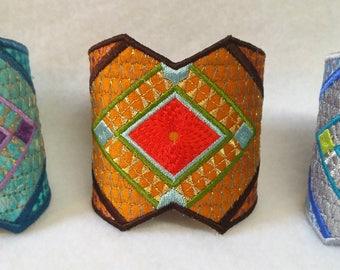 Embroidered Wrist Cuff Bracelet Pattern