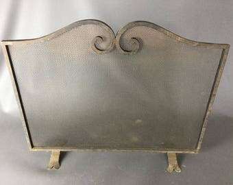 OLD screen spark arrester fire - protection fireplace home sparkle 60 x 45 cm
